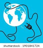 no internet connection vector... | Shutterstock .eps vector #1901841724
