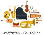 classical music instruments... | Shutterstock .eps vector #1901843194