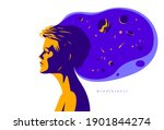 woman profile with space view... | Shutterstock .eps vector #1901844274