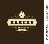 bakery badge or label retro... | Shutterstock .eps vector #1901847364
