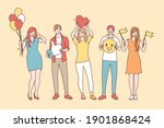 positive thinking and emotions...   Shutterstock .eps vector #1901868424