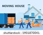 delivery service concept.... | Shutterstock . vector #1901870041