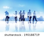 silhouettes of business people... | Shutterstock . vector #190188719