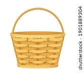 woven basket with handle for... | Shutterstock .eps vector #1901889304