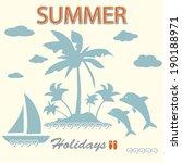 summer background. card | Shutterstock .eps vector #190188971