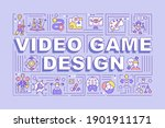 video game design word concepts ...