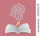 opened book creative concept | Shutterstock .eps vector #190191275