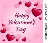 happy valentines day pink... | Shutterstock .eps vector #1901926144