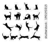 Stock vector cat silhouette 190193315