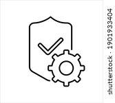 warranty of service icon... | Shutterstock .eps vector #1901933404