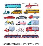 urban transport set. public... | Shutterstock .eps vector #1901942491