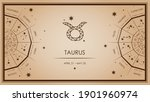 taurus  zodiac sign. horoscopes ...   Shutterstock .eps vector #1901960974