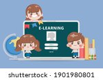bangkok student studying at... | Shutterstock .eps vector #1901980801