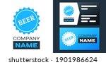 logotype bottle cap with beer... | Shutterstock .eps vector #1901986624