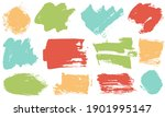spots and stains paint brush... | Shutterstock .eps vector #1901995147