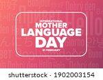 international mother language... | Shutterstock .eps vector #1902003154