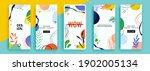 trendy editable template for... | Shutterstock .eps vector #1902005134