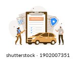 people character  signing auto... | Shutterstock .eps vector #1902007351