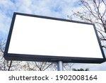 billboard blank mockup and... | Shutterstock . vector #1902008164
