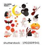 halloween mouse vector... | Shutterstock .eps vector #1902009541