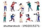 photographers. cartoon people... | Shutterstock .eps vector #1902015271