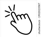 hand  touch icon vector logo...   Shutterstock .eps vector #1902023587