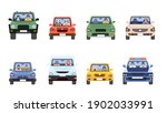 people in cars front view. man... | Shutterstock .eps vector #1902033991