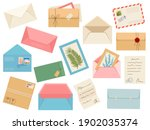 letters  cards and envelopes.... | Shutterstock .eps vector #1902035374