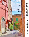 Alley In The Tuscan Village Of...