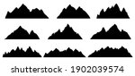 mountain silhouette. rocky... | Shutterstock .eps vector #1902039574