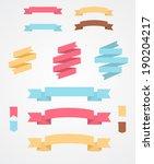 set of flat ribbons | Shutterstock .eps vector #190204217