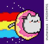 space cat taco tuesday mexicano ... | Shutterstock .eps vector #1902045931