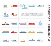 vector flat design ship and... | Shutterstock .eps vector #190205339