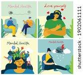 mental health illustration... | Shutterstock .eps vector #1902061111