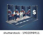 people standing in front of the ... | Shutterstock .eps vector #1902098911