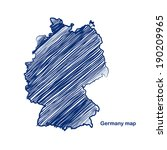 germany map hand drawn... | Shutterstock .eps vector #190209965