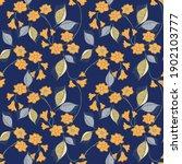 vector floral seamless pattern...   Shutterstock .eps vector #1902103777