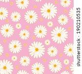seamless daisies vector pattern  | Shutterstock .eps vector #190210535