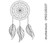 Dreamcatcher Coloring Book Page ...