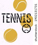 tennis typographical. vintage...   Shutterstock .eps vector #1902131731