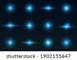 a set of light effects. glowing ...   Shutterstock . vector #1902155647