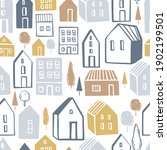 vector seamless pattern with... | Shutterstock .eps vector #1902199501