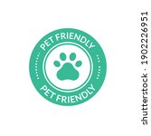 pet animal friendly sign. paw... | Shutterstock .eps vector #1902226951