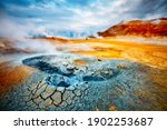 Dramatic View Of The Geothermal ...