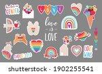 lgbt elements for valentines...   Shutterstock .eps vector #1902255541