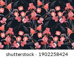 floral vector seamless pattern. ... | Shutterstock .eps vector #1902258424