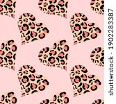 Abstract Hearts Shaped Leopard...