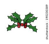 cartoon holly | Shutterstock .eps vector #190230389