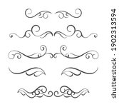 calligraphic ornamental element ... | Shutterstock .eps vector #1902313594