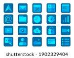 20 application set icon. modern ...